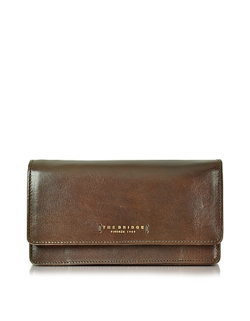 The Bridge - Passpartout Donna Dark Brown Leather Women's Large Wallet