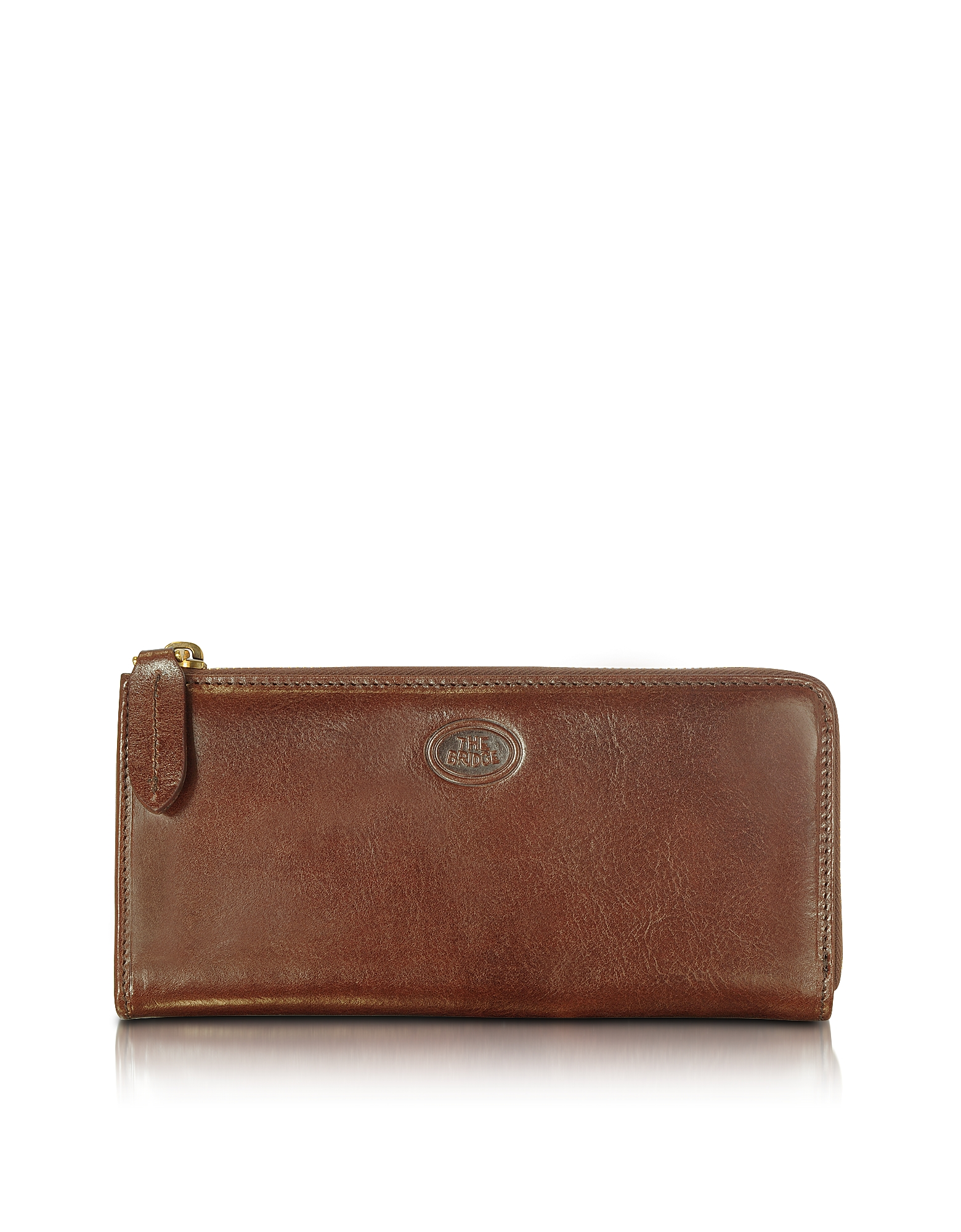 The Bridge Handbags, Story Donna Brown Leather Zip Wallet