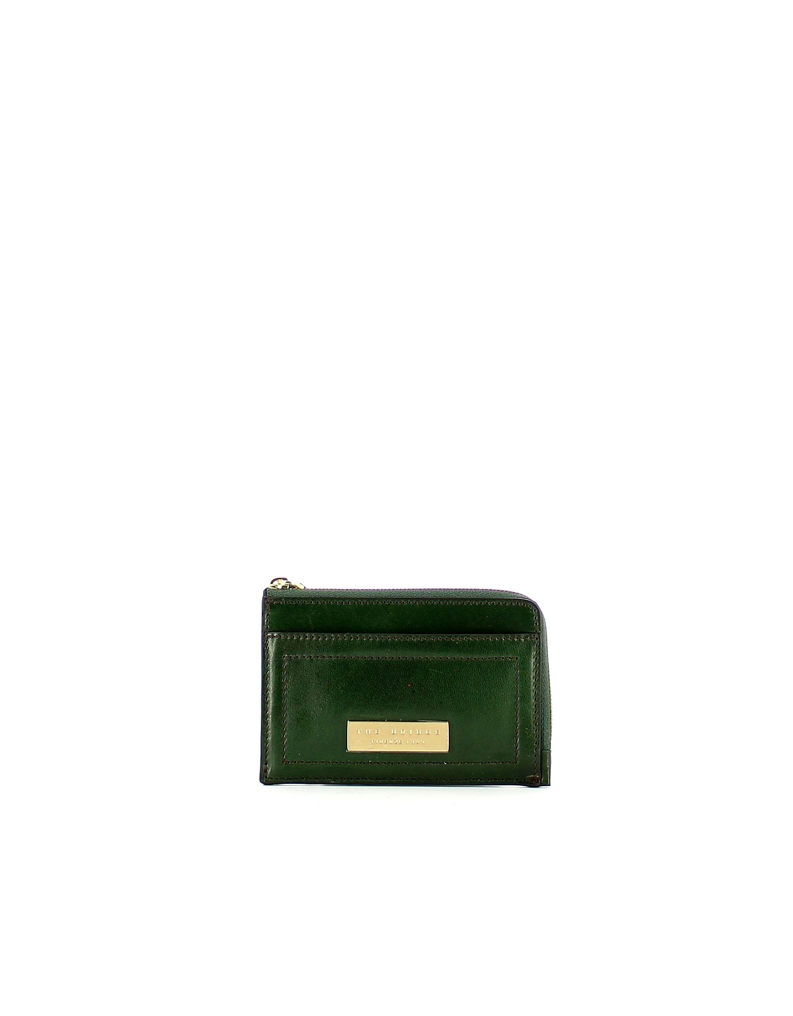 The Bridge Designer Wallets, Green Beatrice Card Holder
