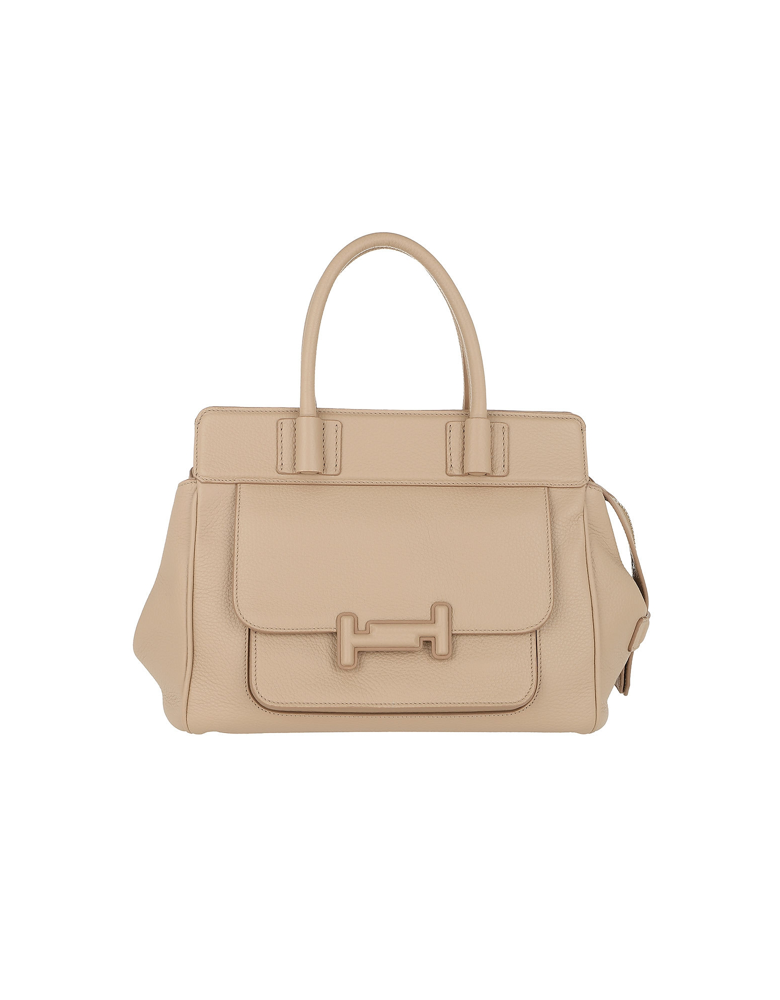 Double T Satchel Small Nocciola
