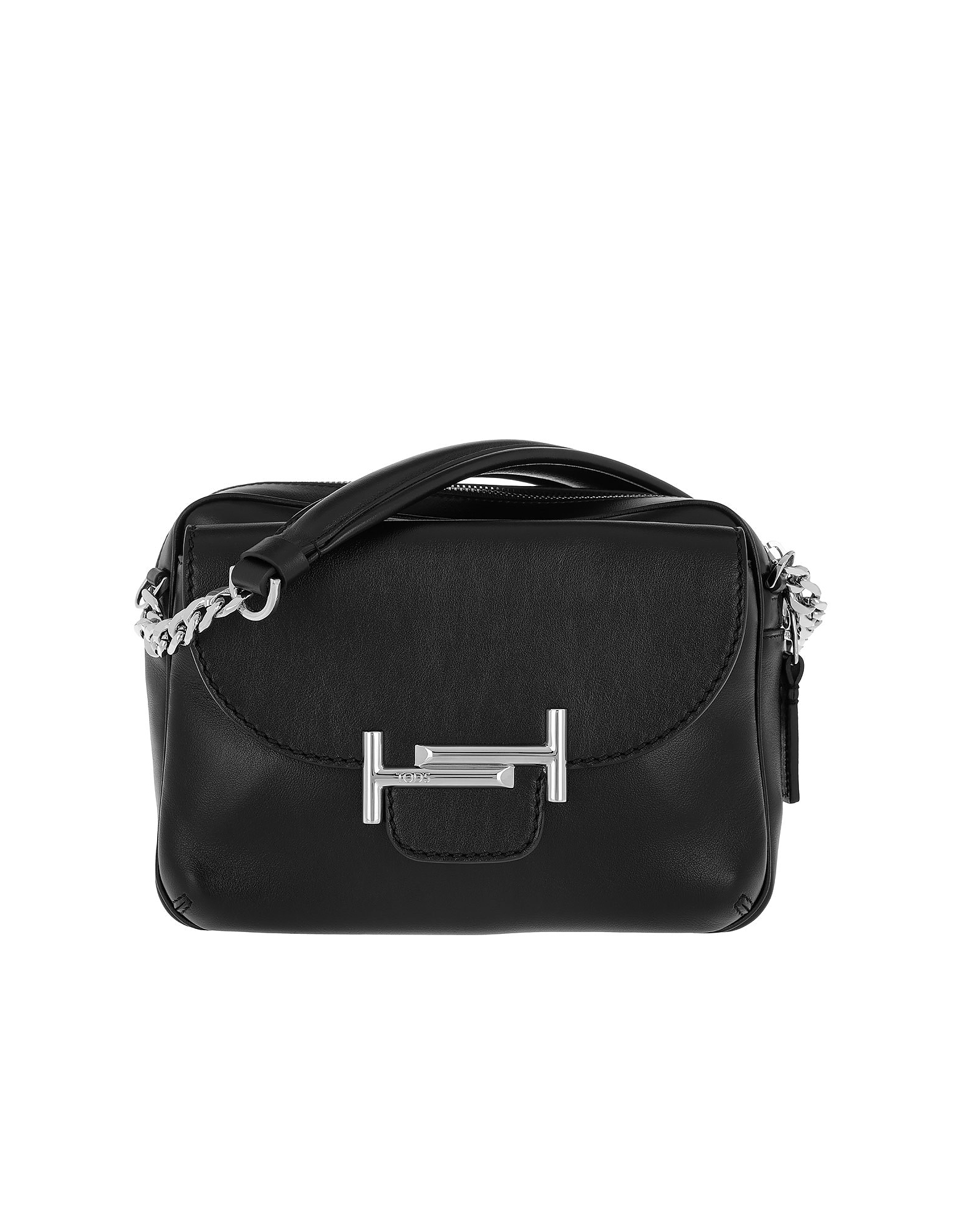 Double T Camera Bag Calf Leather Black