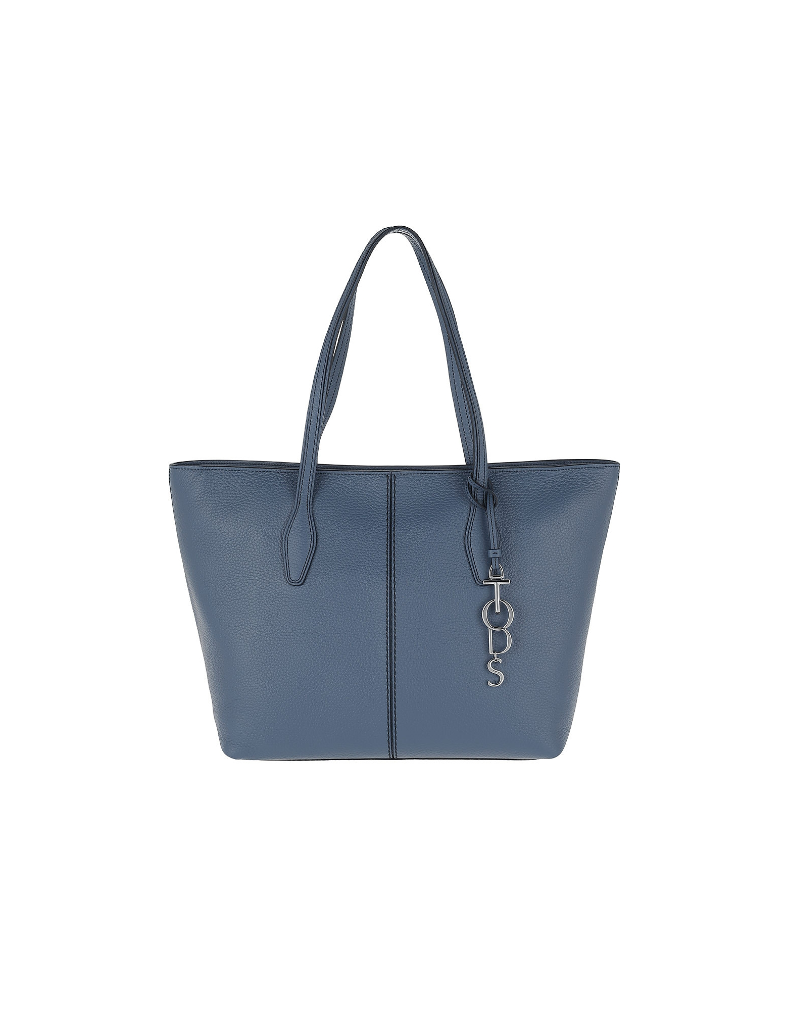 Joy Con Chram Logo Tote Leather Jeans Scuro