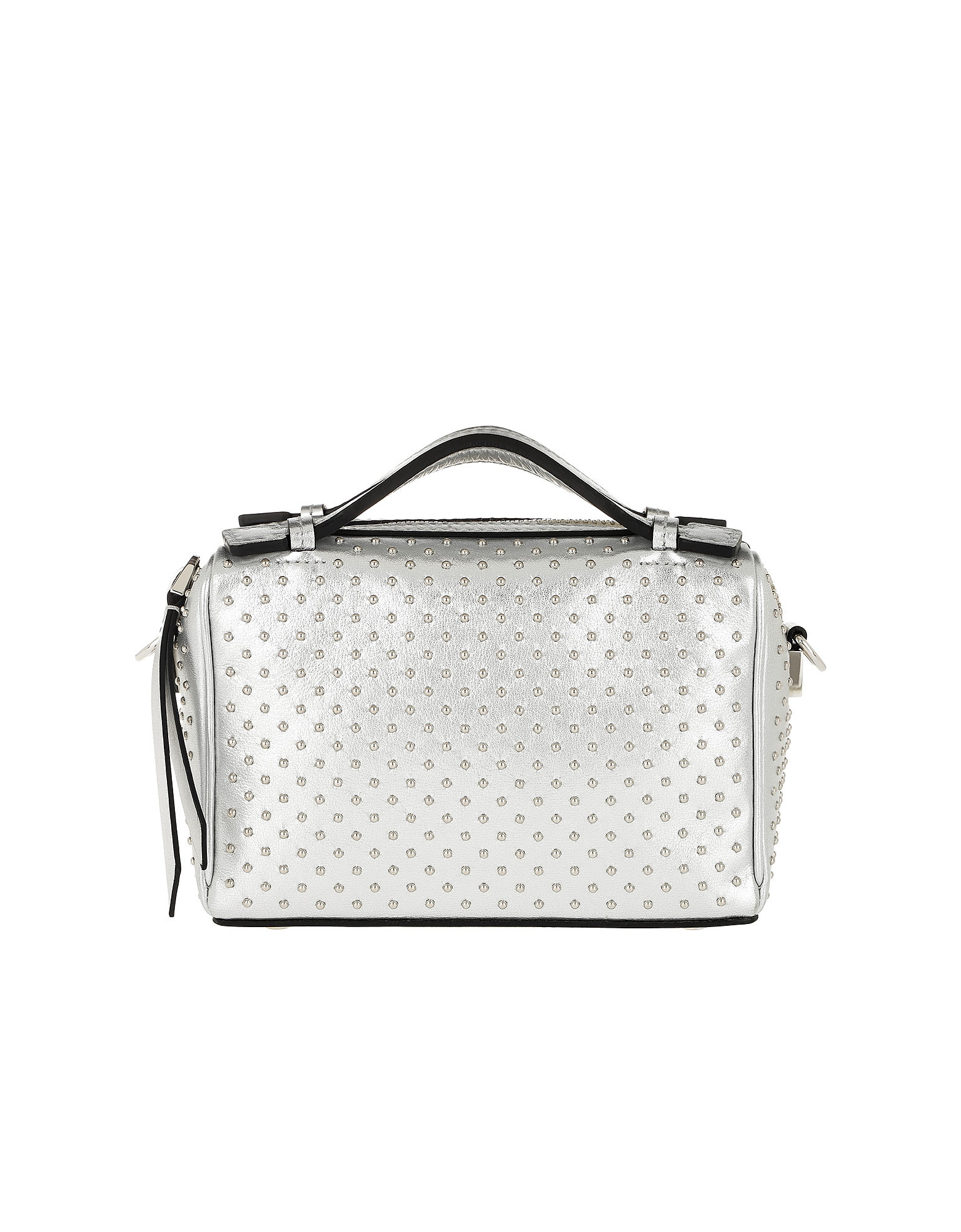 Don Bauletto Micro Pave Bag Leather Silver