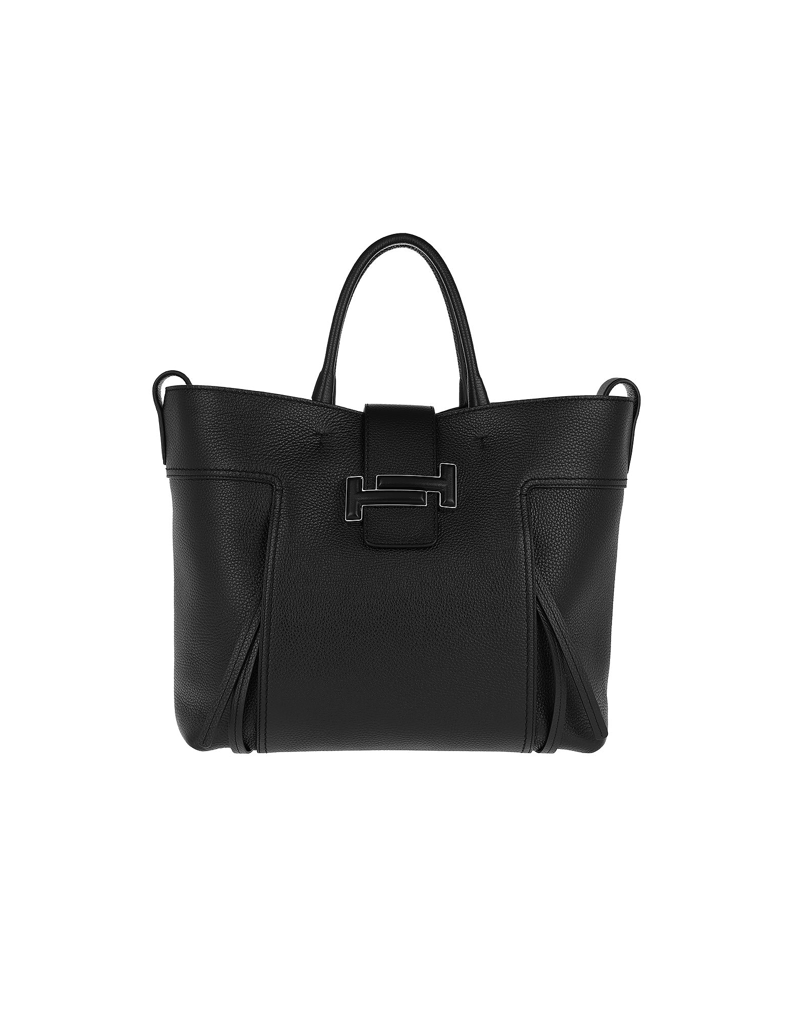 Double T Shopping Bag Large Black