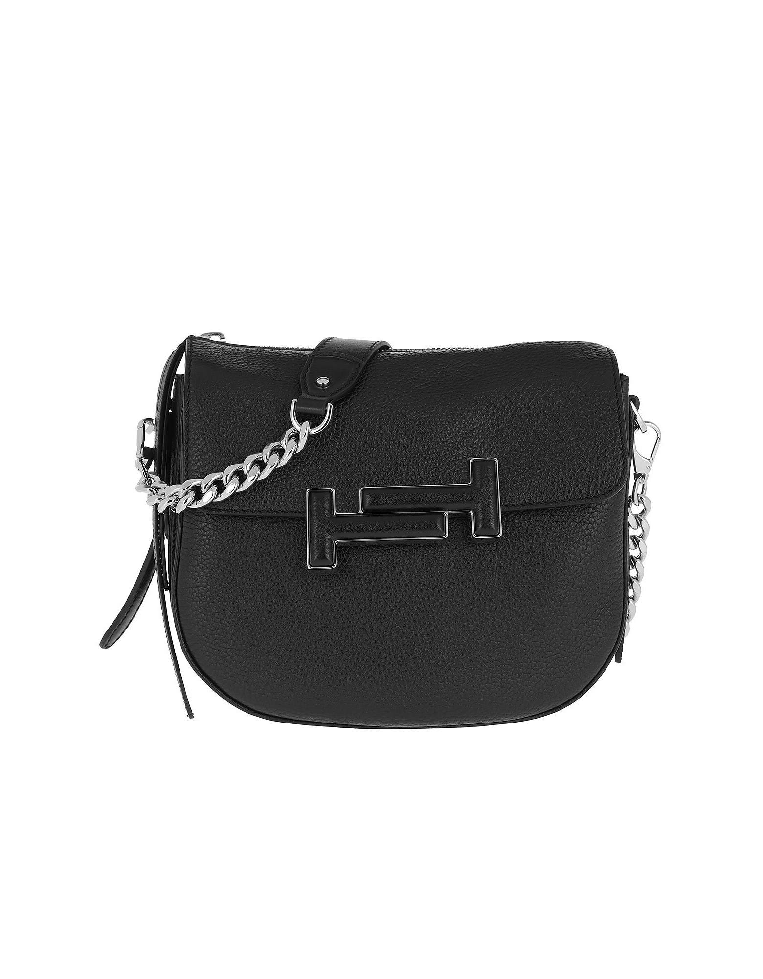 Double T Crossbody Bag Mini Black