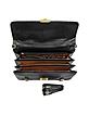 Black Crocodile Leather Triple Gusset Briefcase - A.Testoni