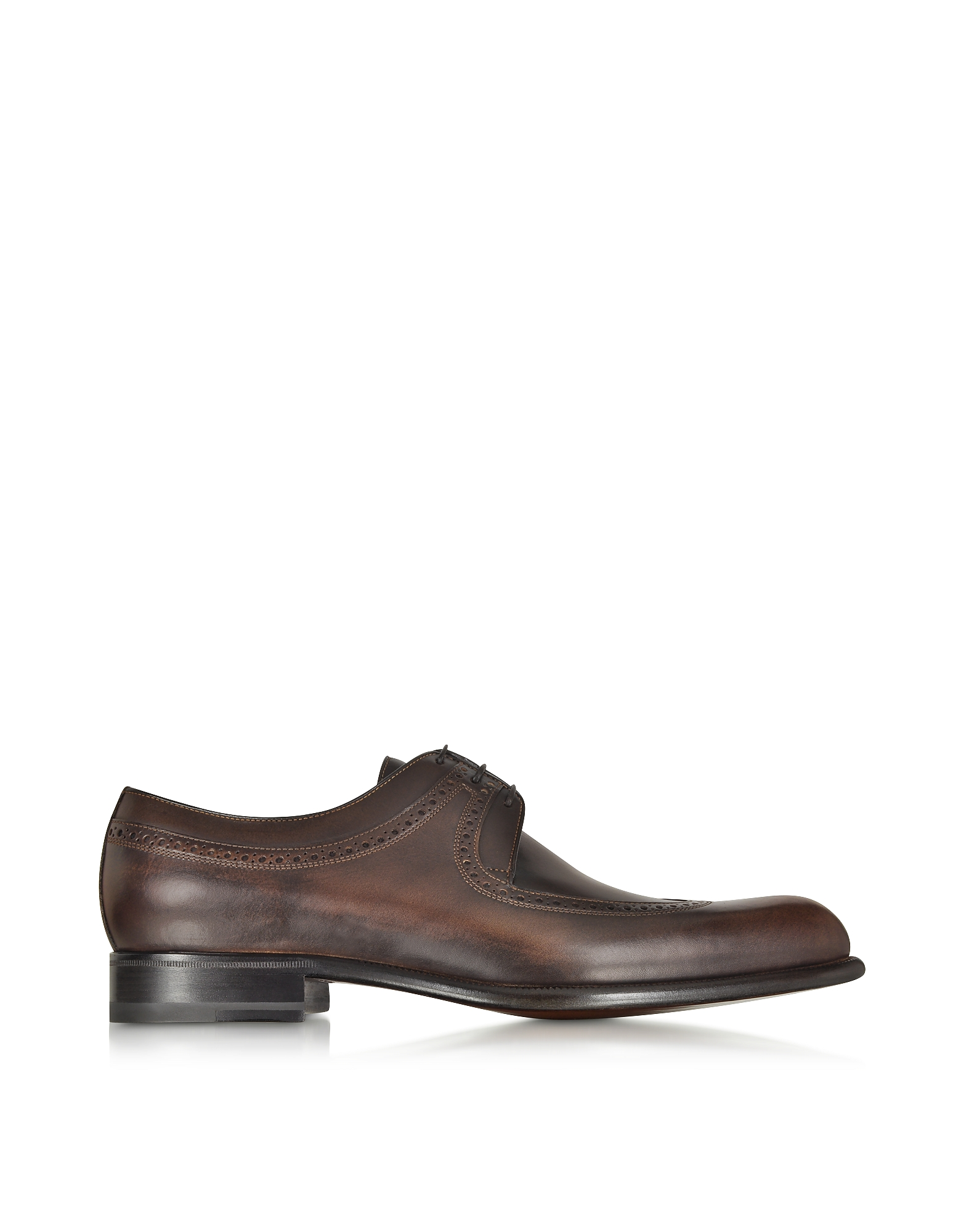 A.Testoni Shoes, Moro Washed Leather Derby Shoe