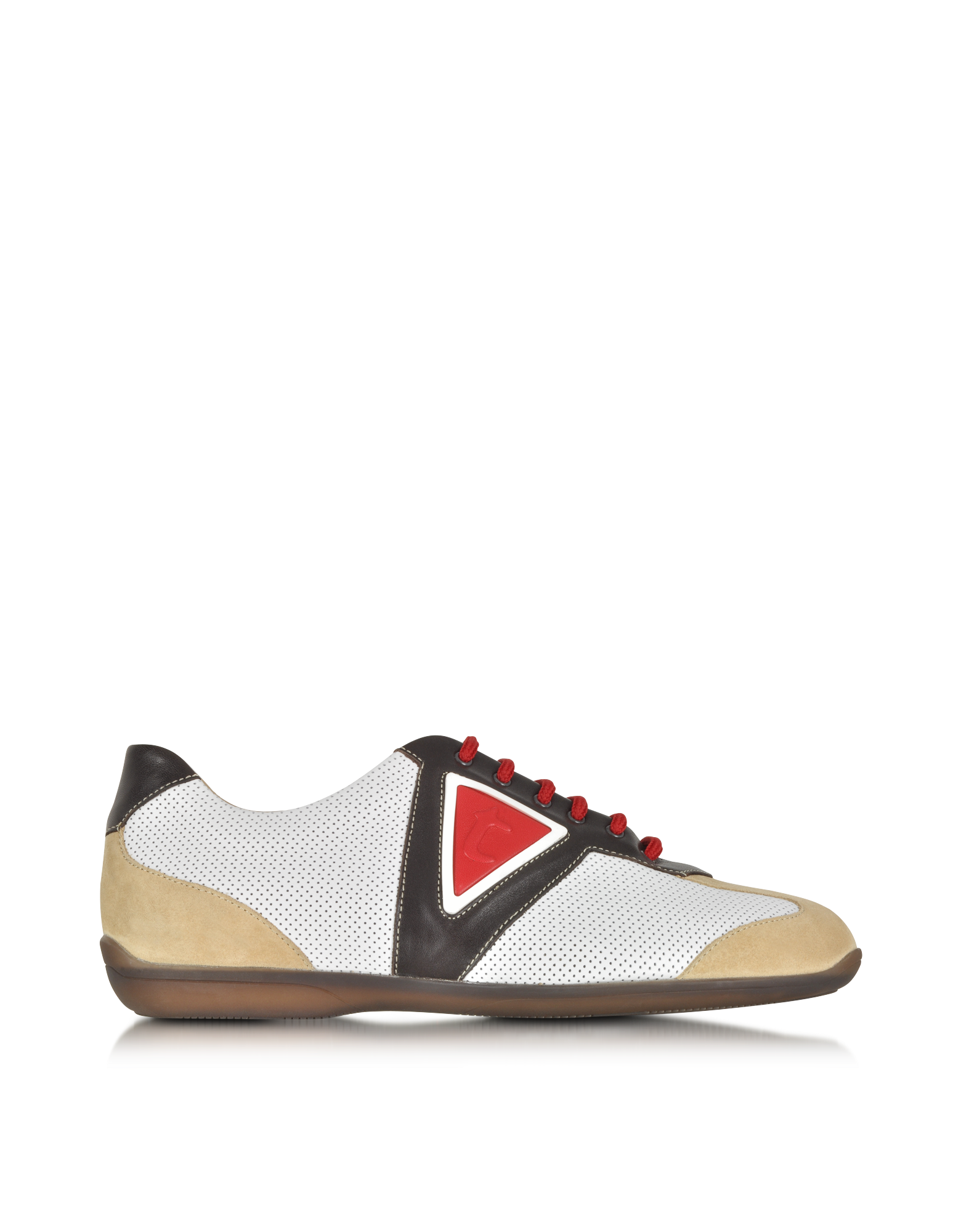 Image of Multicolor Leather and Suede Sneaker
