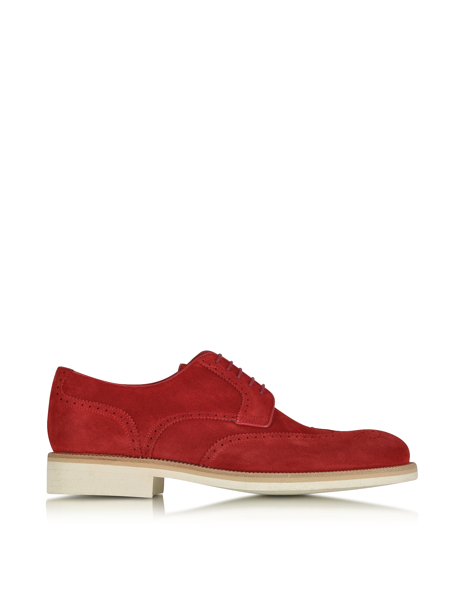 A.Testoni Designer Shoes, Garofano Suede Derby Shoe