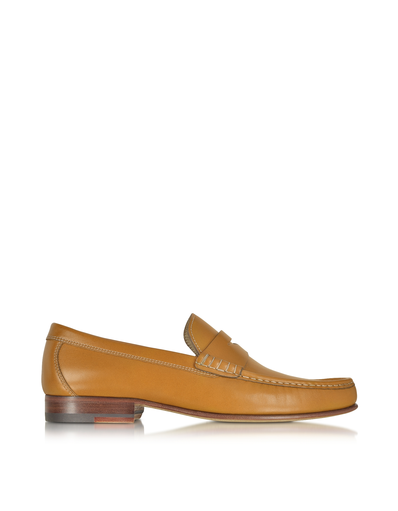 A.Testoni Shoes, Cuoio Leather Moccasin Shoe