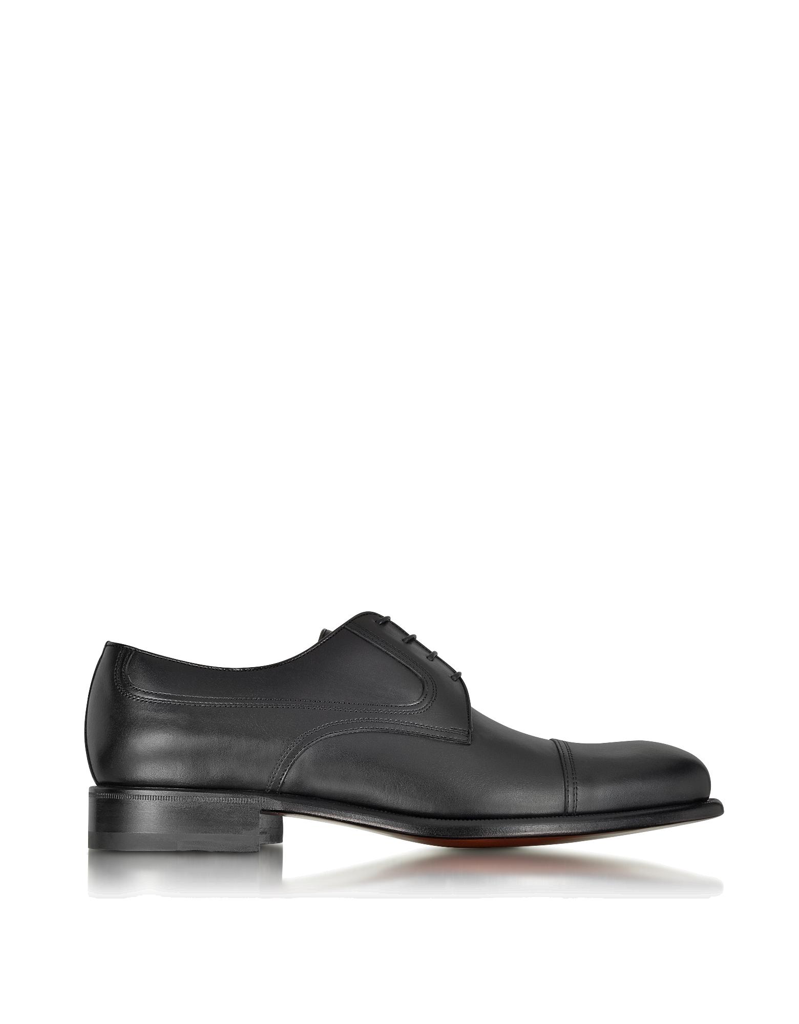Image of Black Leather Derby Shoe
