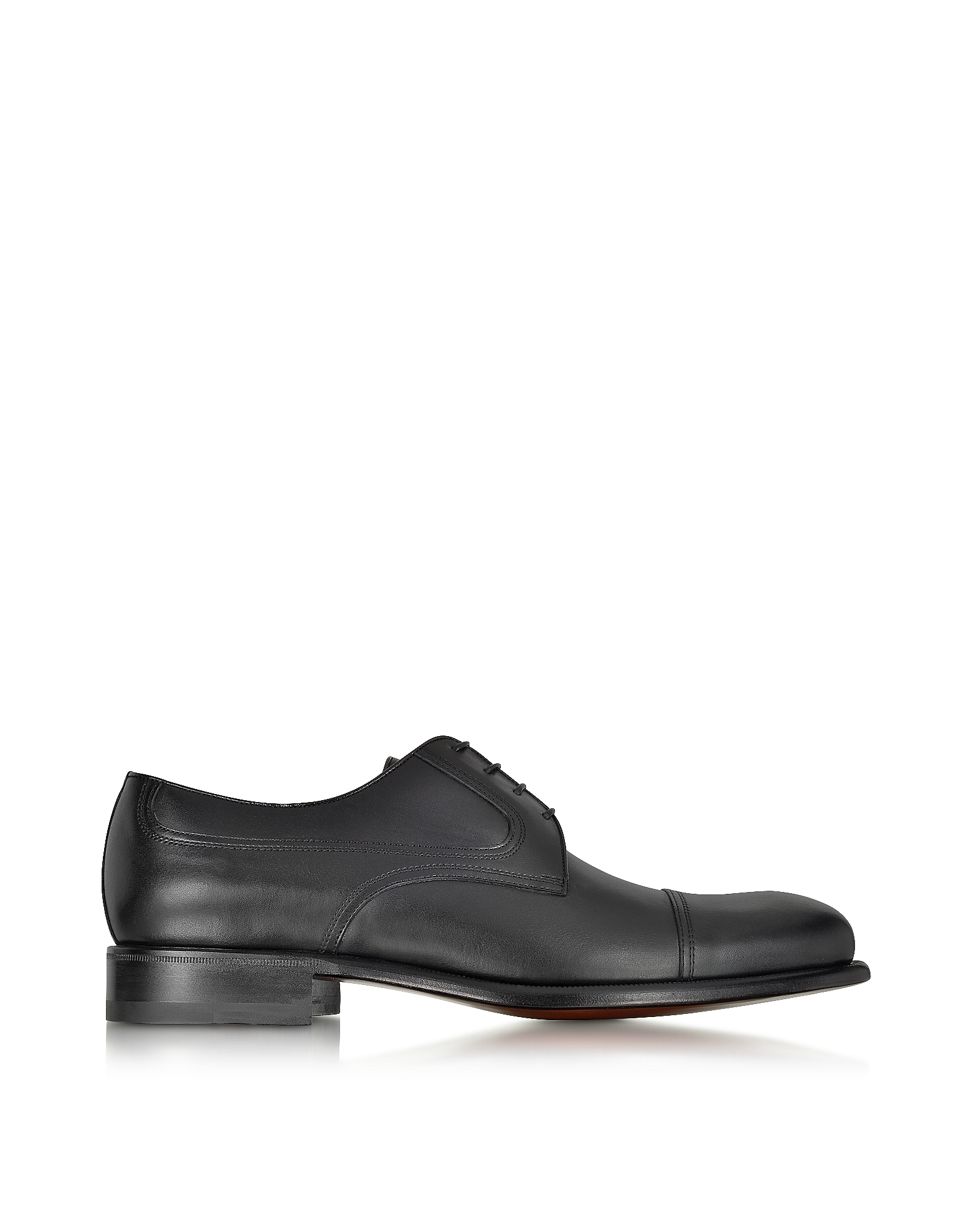 ForzieriDesigner Shoes, Italian Handcrafted and Washed Leather Derby Shoe