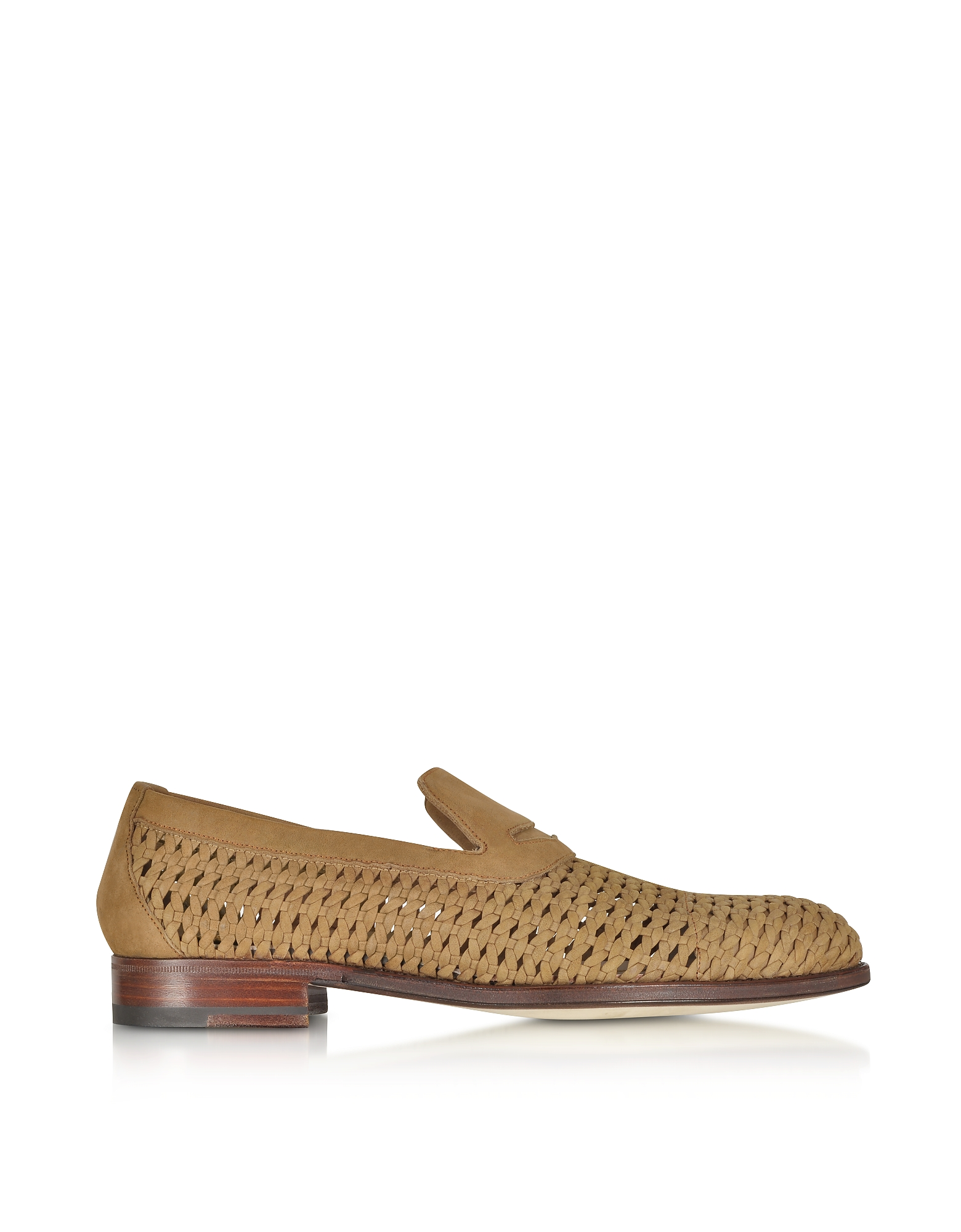 A.Testoni Shoes, Brandy Woven Leather Slip-on Shoe