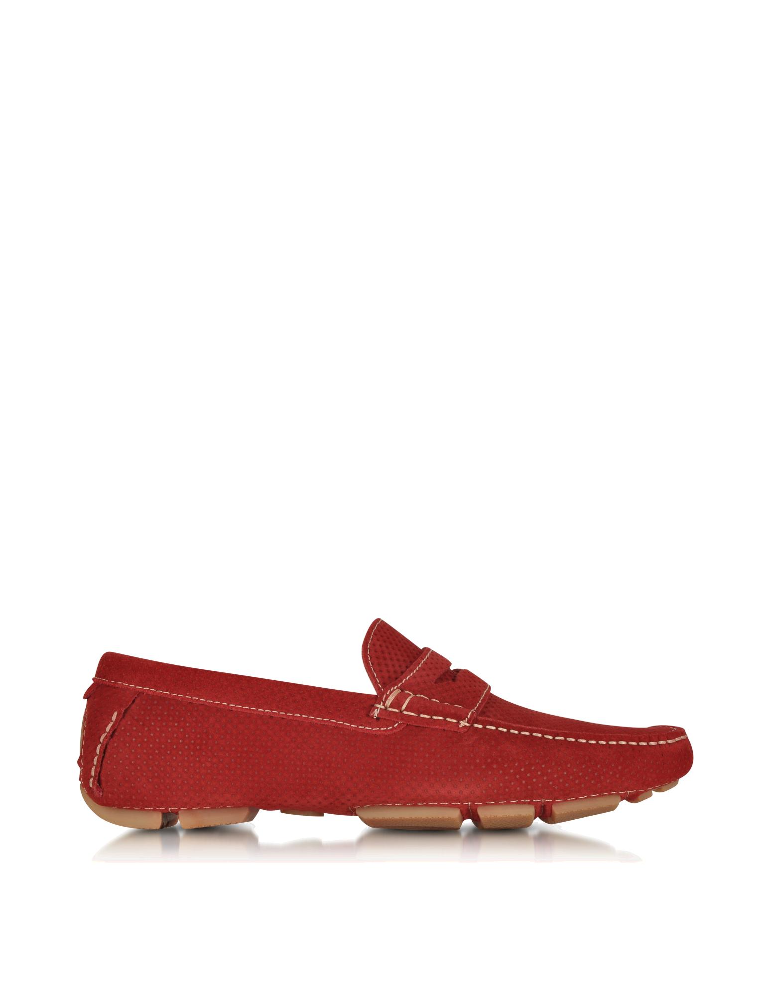 Image of Garofano Techno Suede Moccasin Shoe