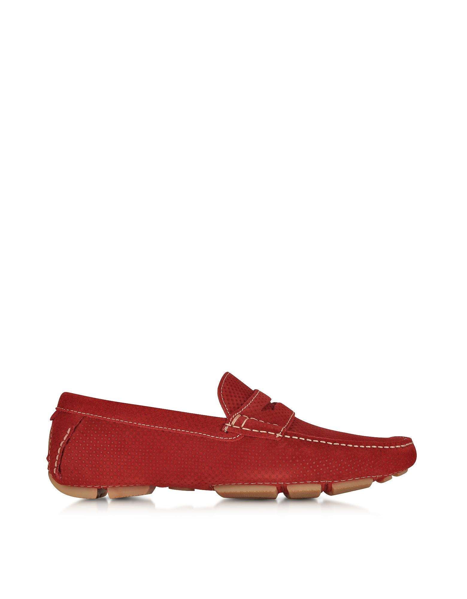 A.Testoni Shoes, Garofano Techno Suede Moccasin Shoe