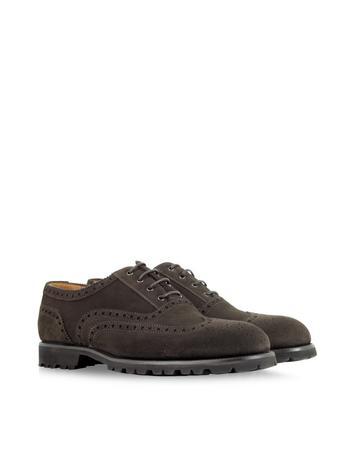 Dark Brown Suede Oxford Shoe