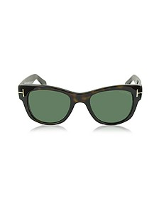 CARY FT0058 52N Havana Acetate Sunglasses - Tom Ford