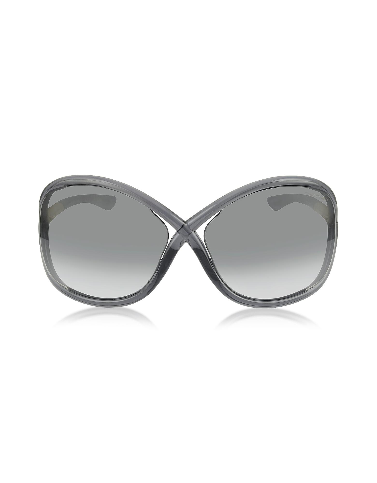 Tom Ford Sunglasses, WHITNEY FT009 B5 Oversized Soft Round Sunglasses