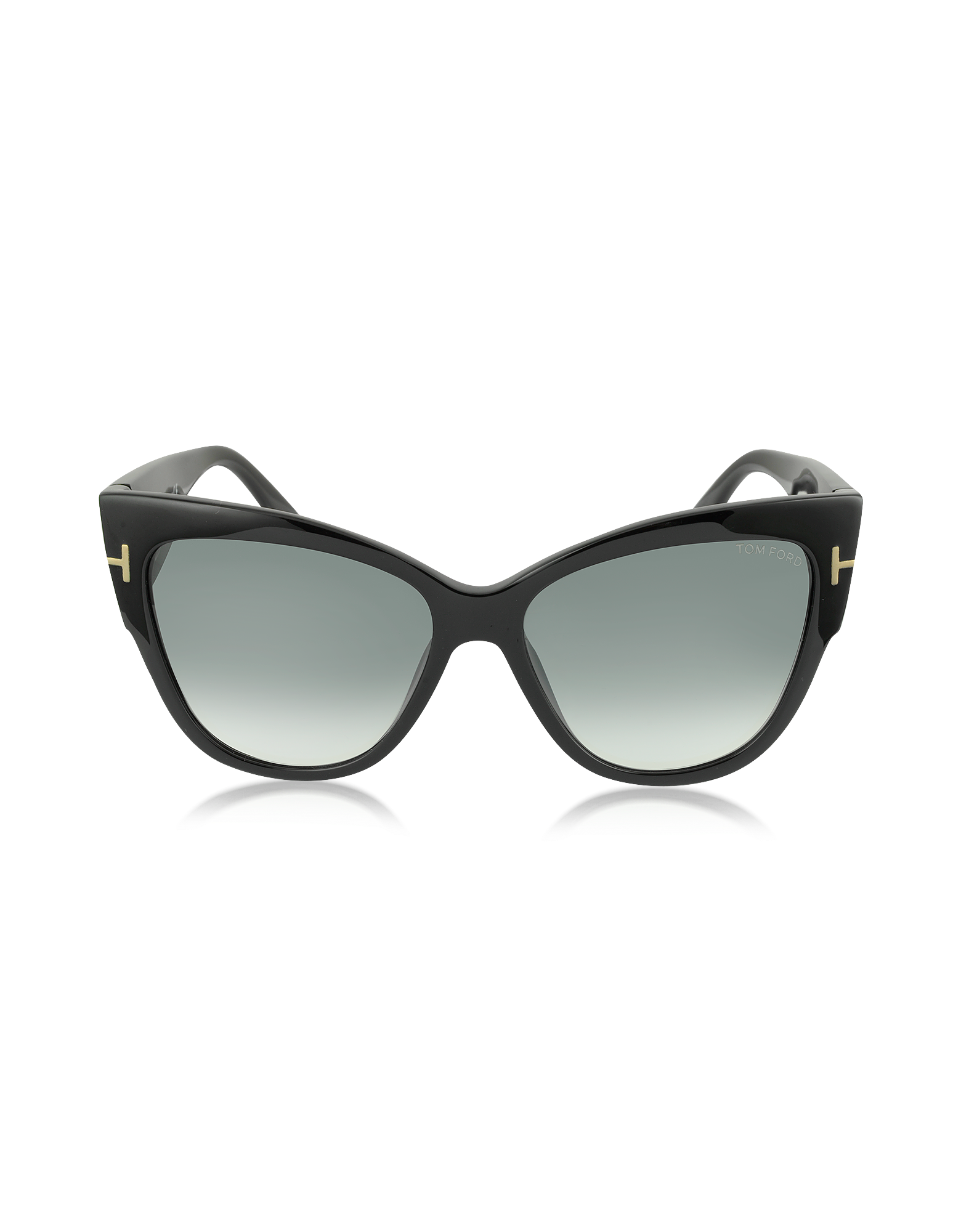 Image of ANOUSHKA FT0371 01B Black Cat Eye Sunglasses