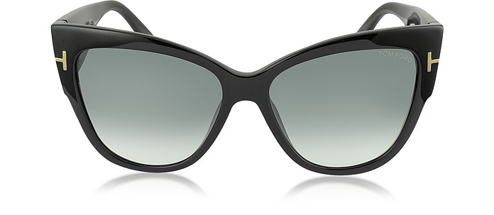 ANOUSHKA FT0371 01B Black Cat Eye Sunglasses - Tom Ford