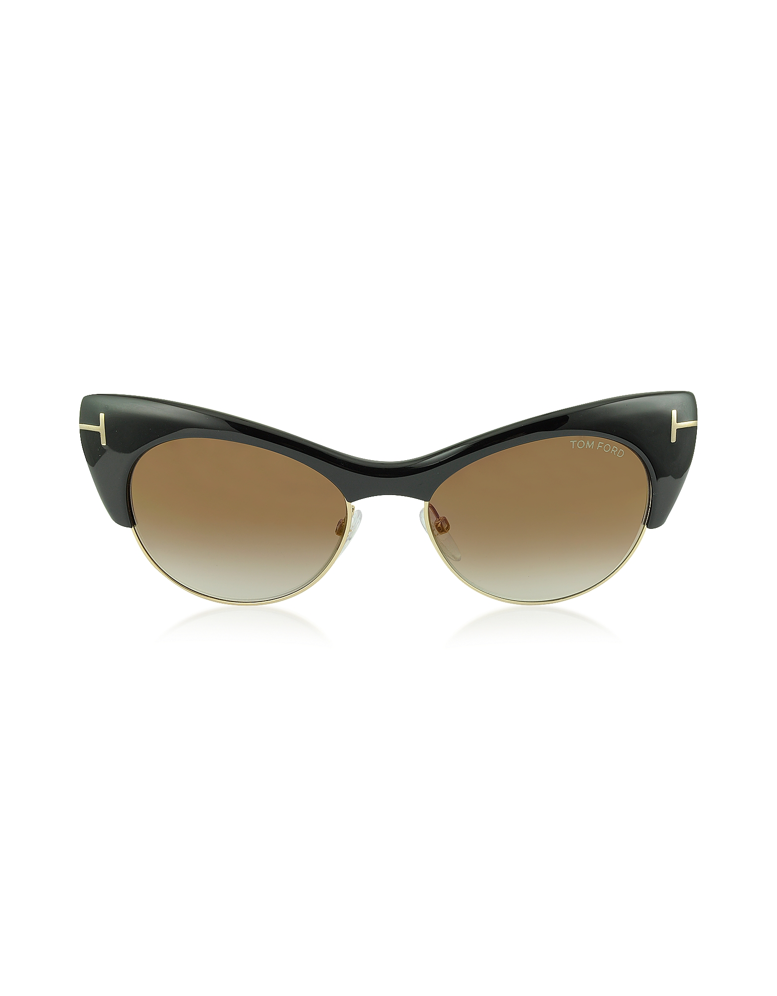 LOLA FT0387 01G Black Cat Eye Sunglasses