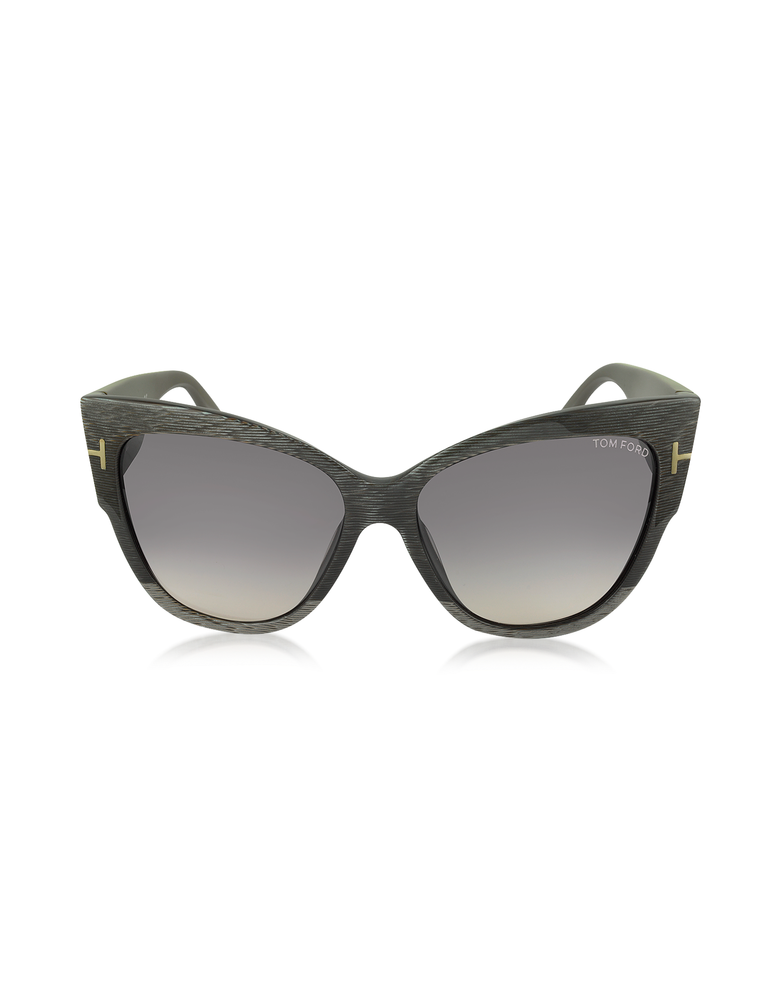 Image of ANOUSHKA FT0371 38B Dove Grey Cat Eye Sunglasses