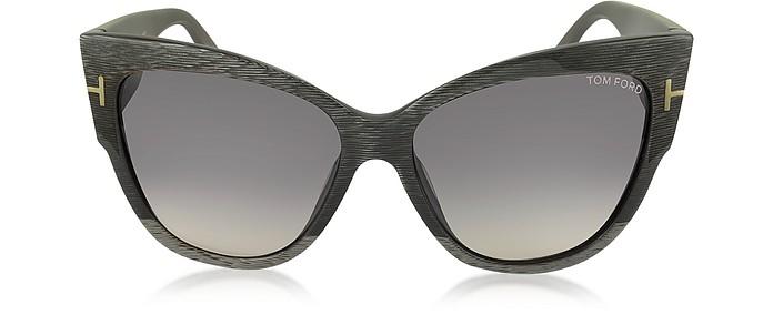 ANOUSHKA FT0371 38B Dove Grey Cat Eye Sunglasses - Tom Ford