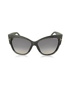 ANOUSHKA FT0371 38B Dove Grey Cat Eye Sunglasses - Tom Ford