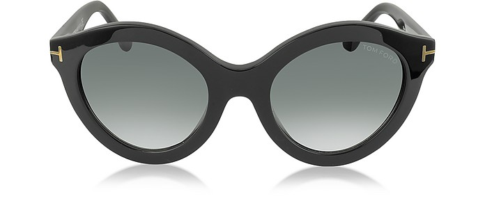 CHIARA FT0359 01B Black Round Sunglasses - Tom Ford