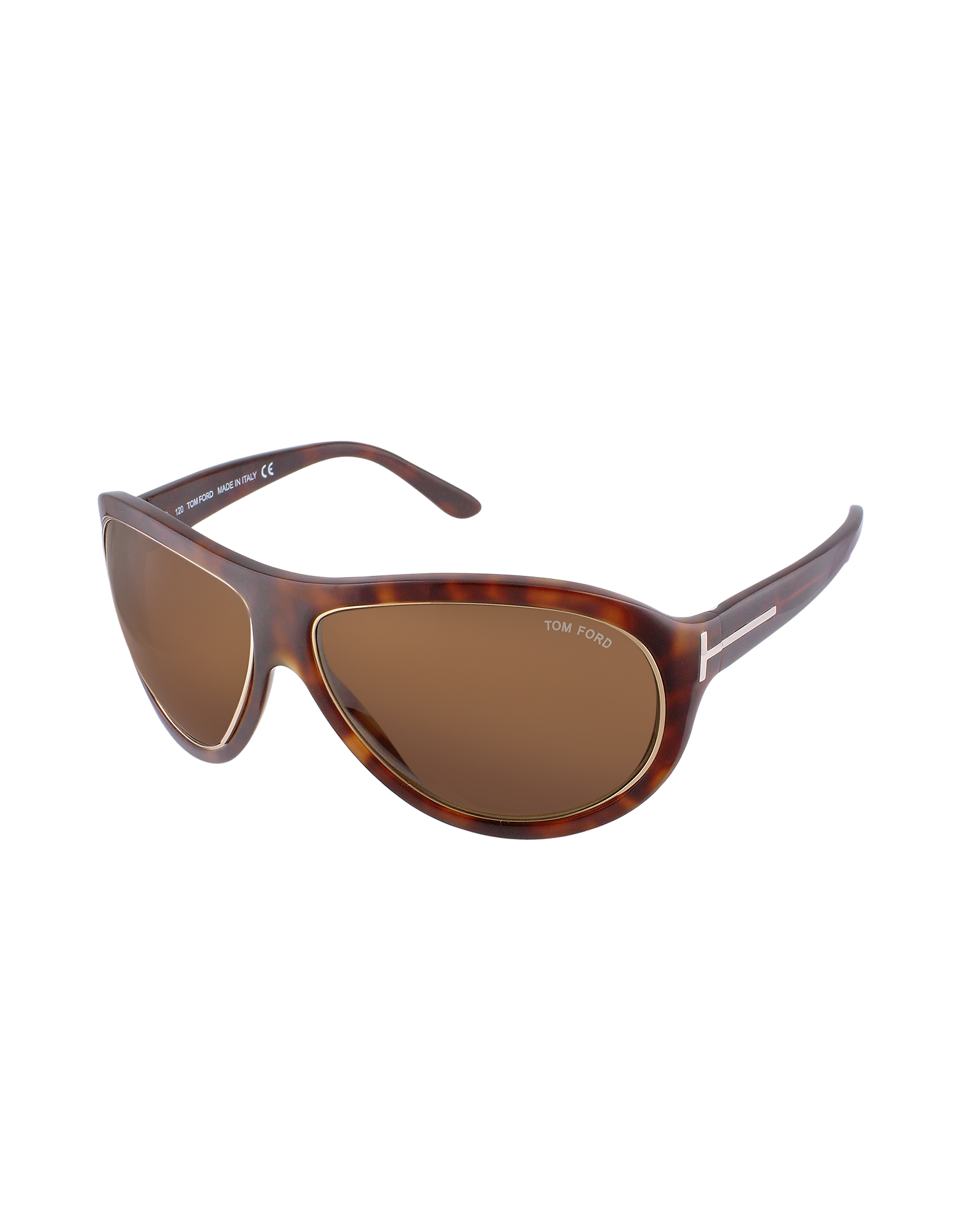 Image of Angus - Metal Trim Logoed Temple Teacup Sunglasses