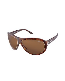Angus - Metal Trim Logoed Temple Teacup Sunglasses - Tom Ford