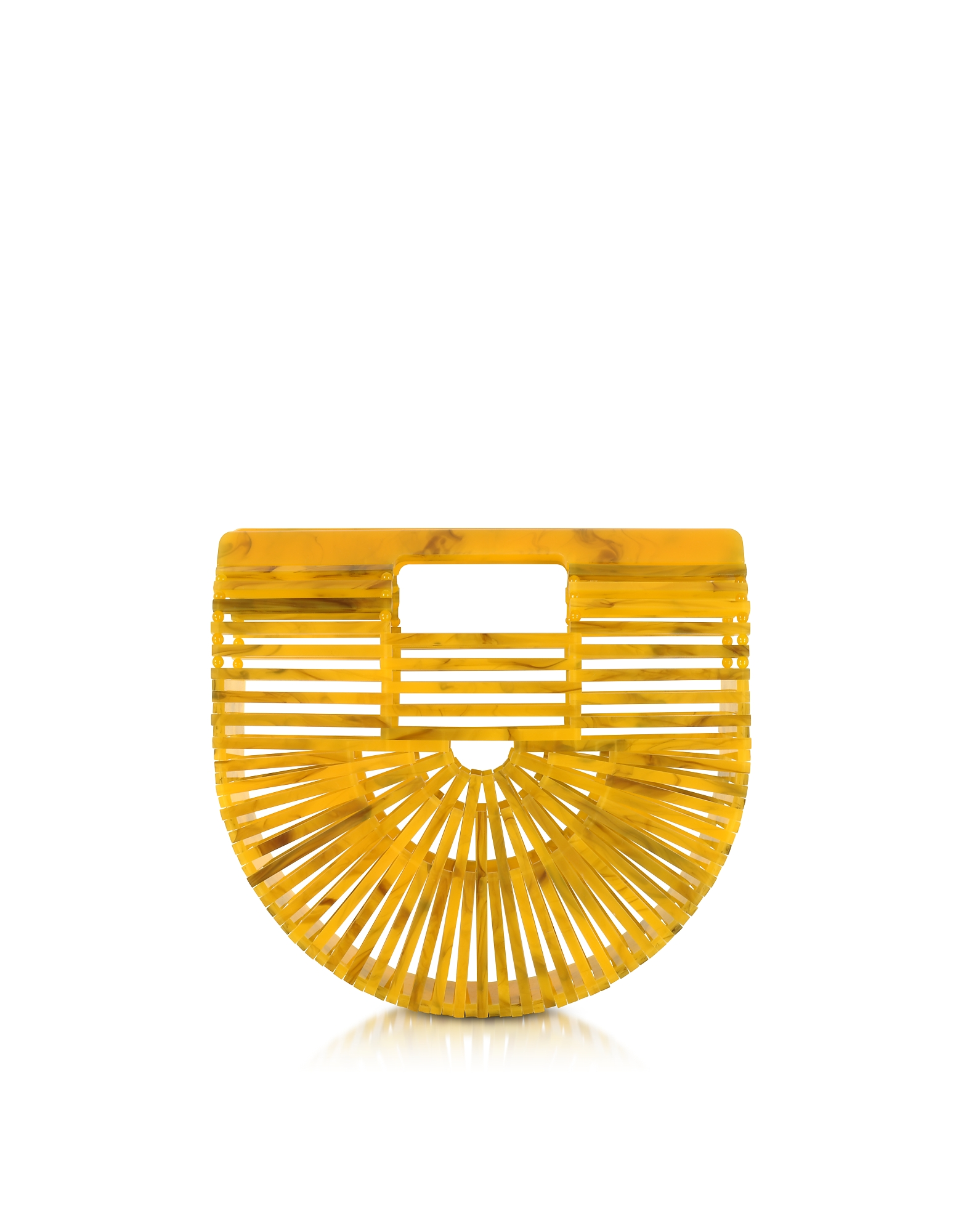 Cult Gaia Handbags, Marigold Acrylic Mini Ark Bag