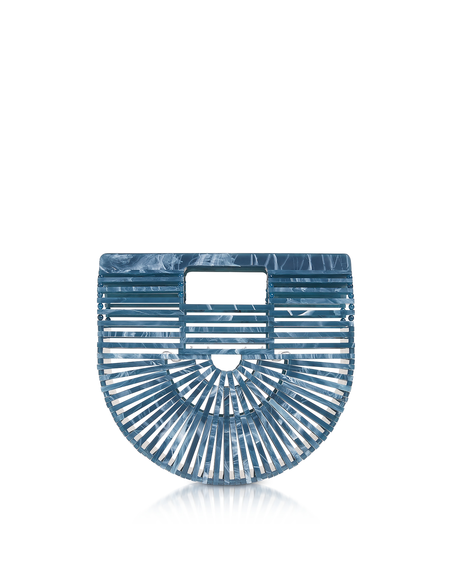 Cult Gaia Handbags, Lagoon Acrylic Mini Ark Bag