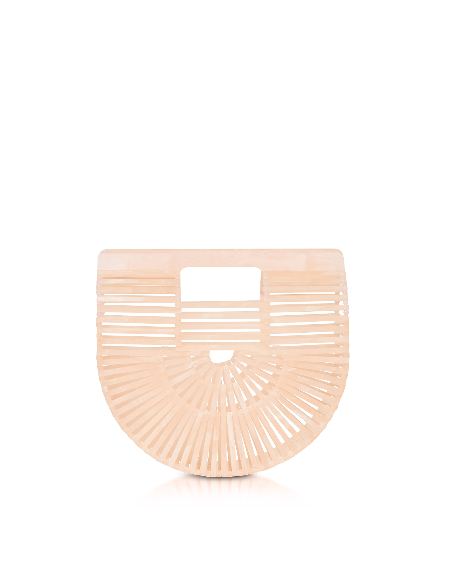 Cult Gaia Handbags, Pink Acrylic Mini Ark Bag