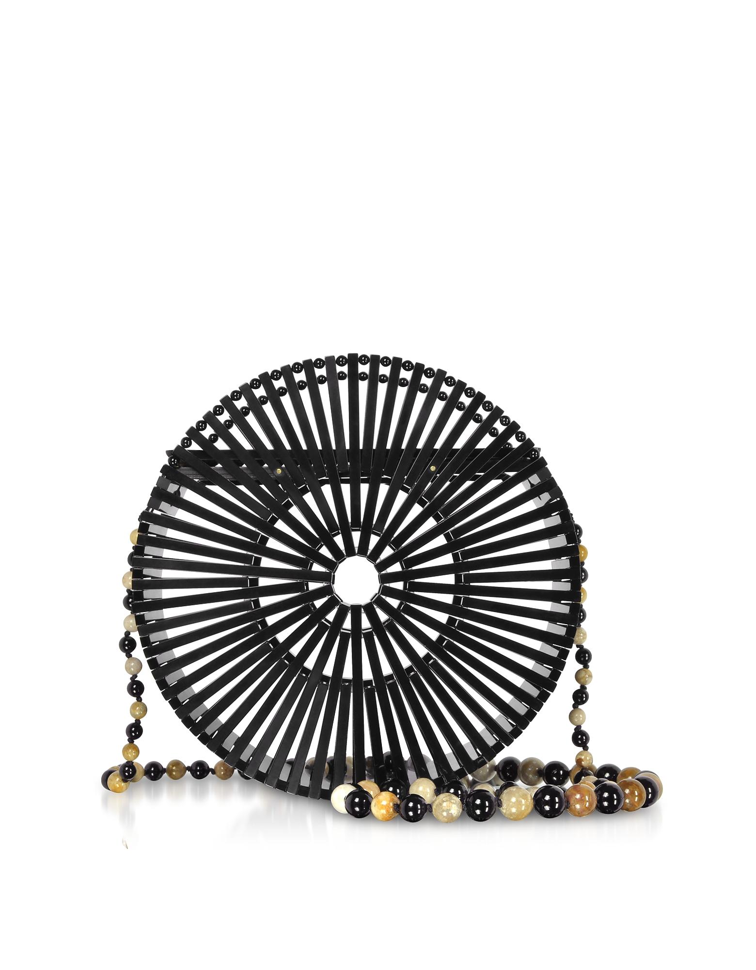 Black Acrylic Luna Crossbody Bag