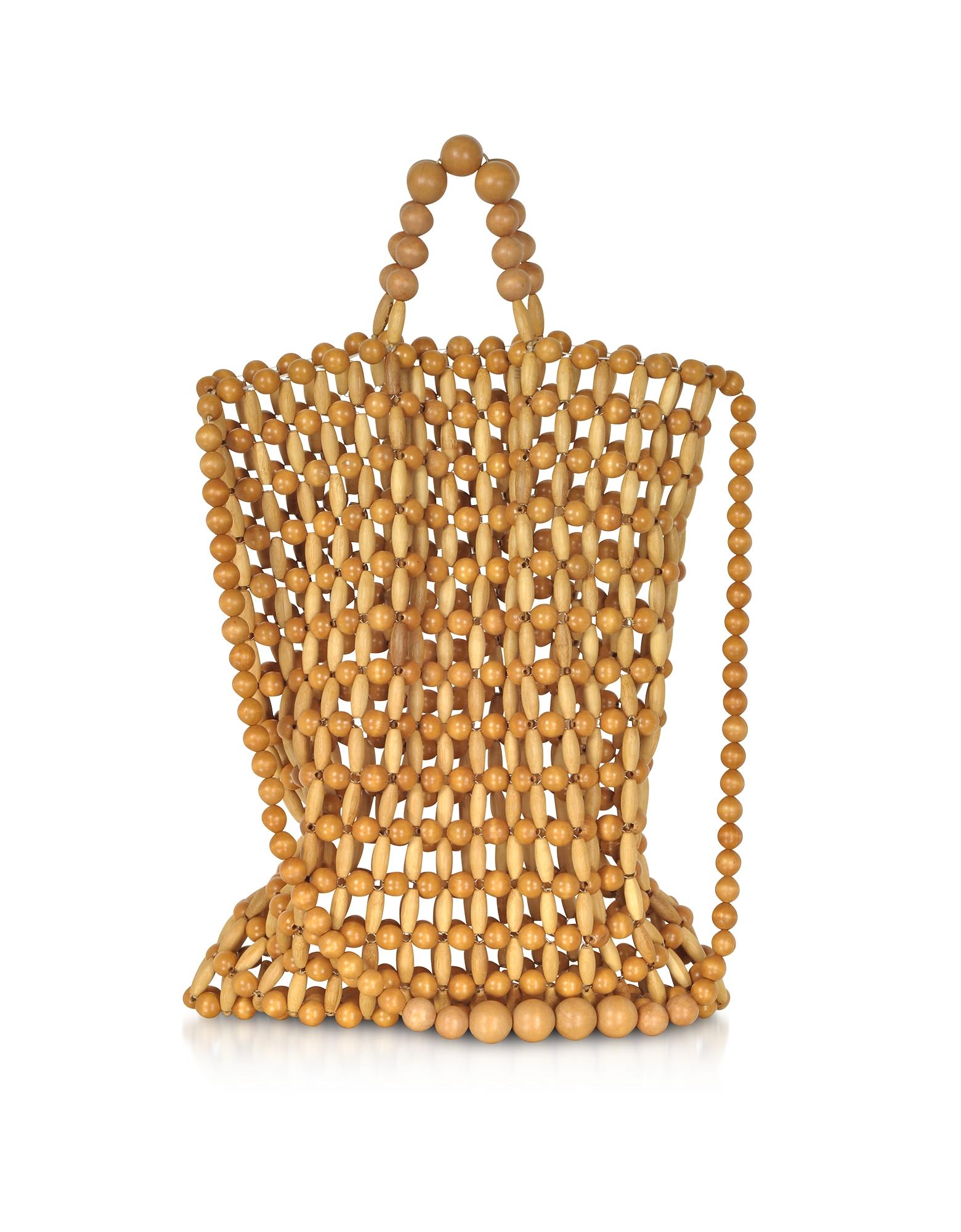 Cult Gaia Handbags, Natural Bamboo Riya Tote bag