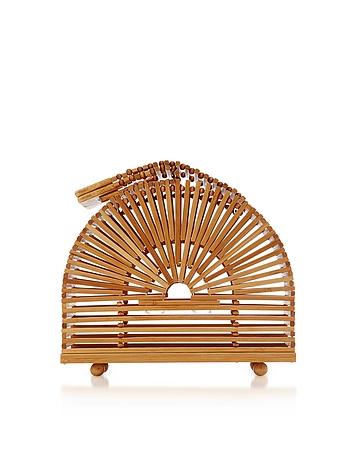 Natural Bamboo Mini Cupola Bag tg130318-026-00