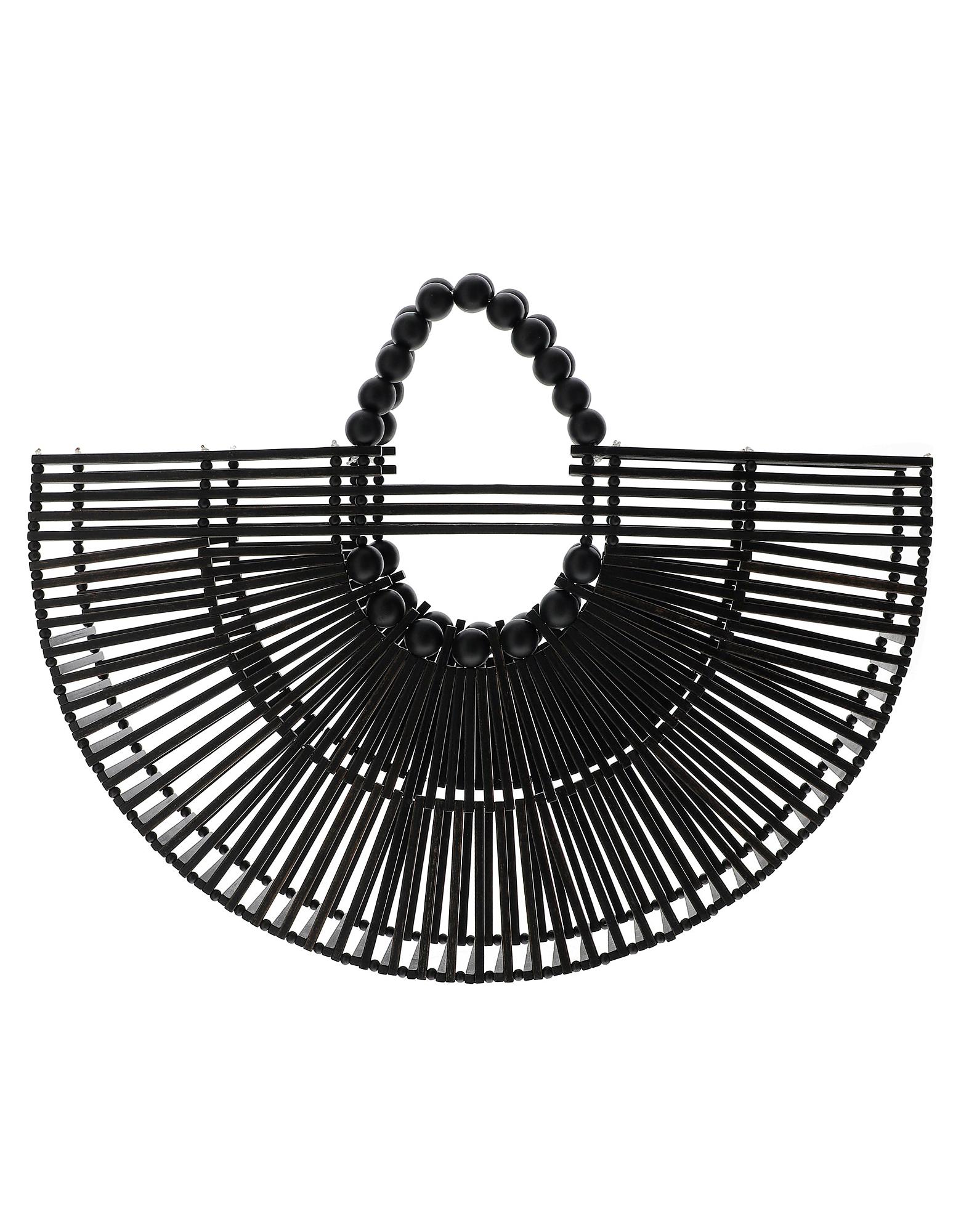 Cult Gaia Designer Handbags, Black Fan Ark Bag