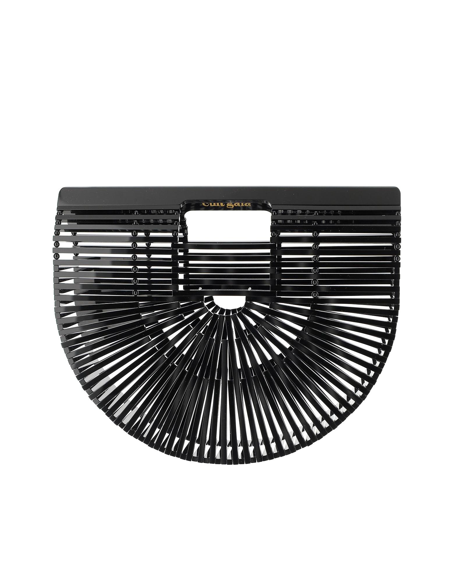 Cult Gaia Designer Handbags, Black Ark Small Bag