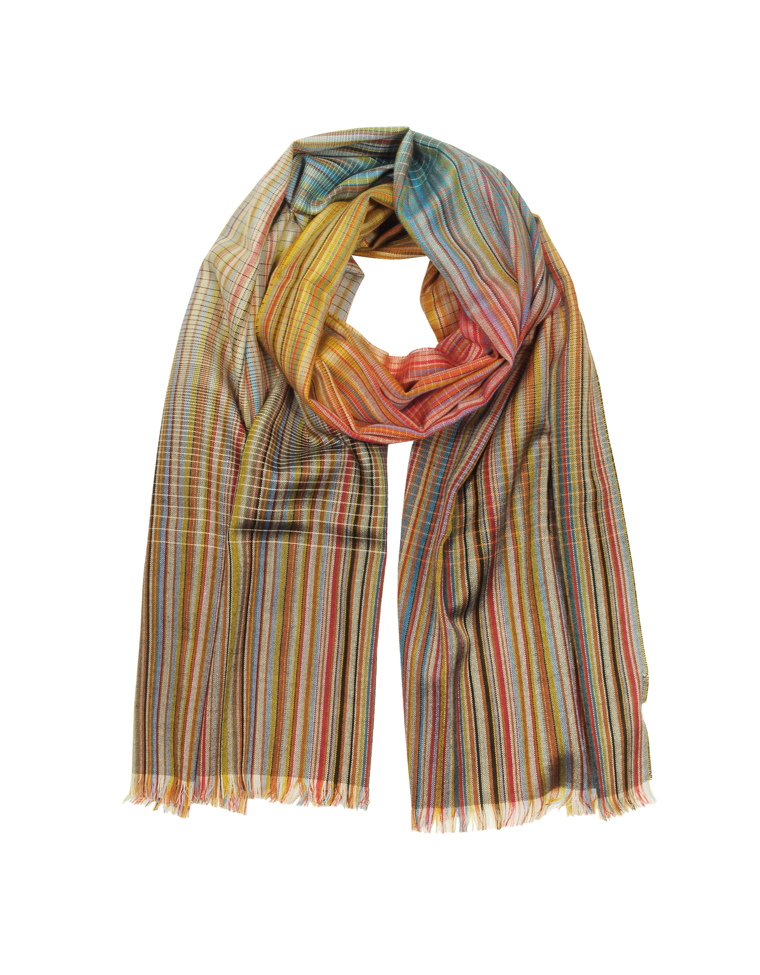 Paul Smith Men's Scarves, Signature Stripe Wool & Silk Men's Scarf