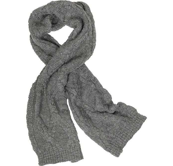 Men's Cable Knit Wool Blend Scarf - Paul Smith