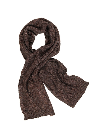 Paul Smith - Men's Cable Knit Wool Blend Scarf