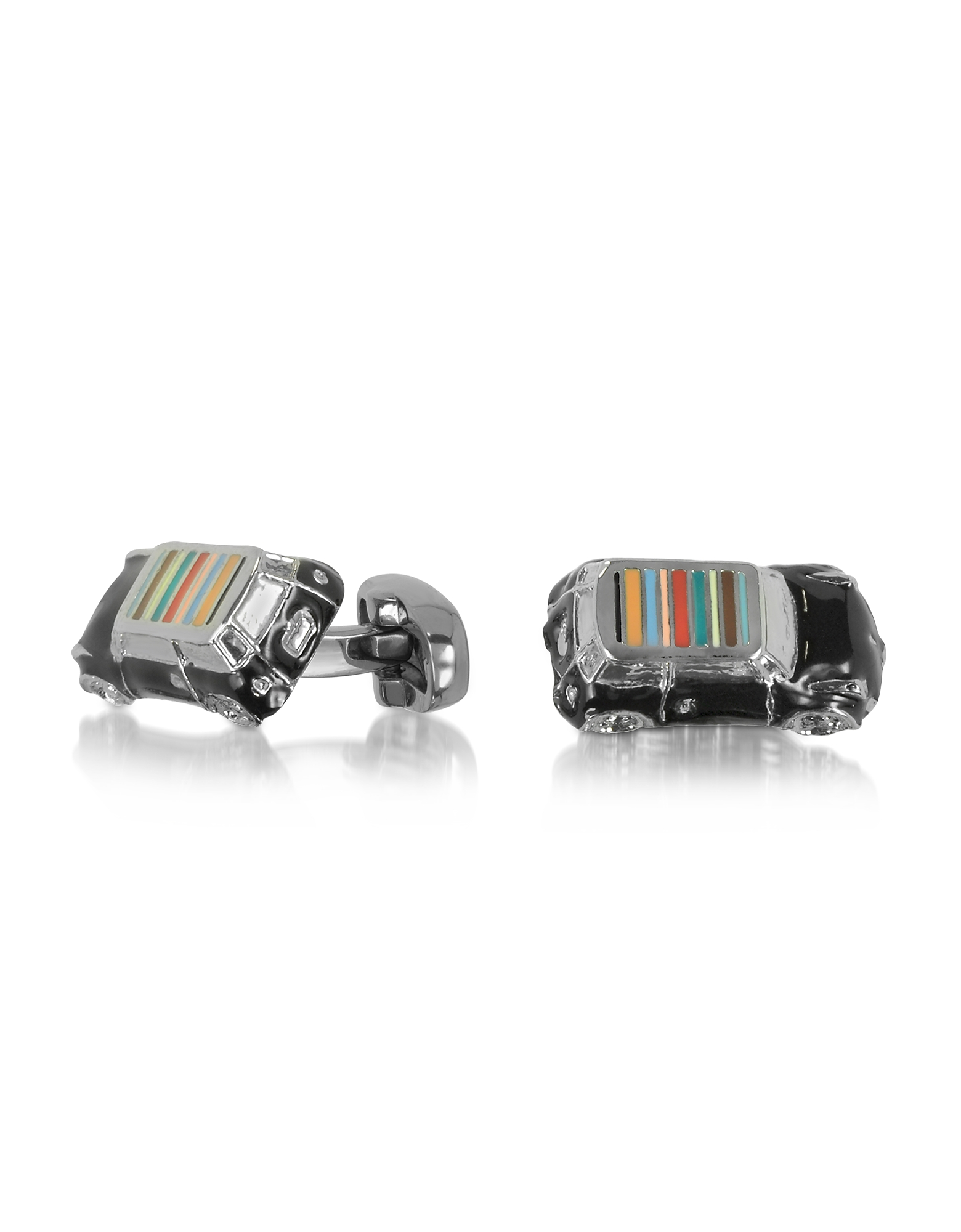 Фото Mini-Car - Мужские Запонки 3D в Форме Мини с Фирменными Полосками на Крыше. Купить с доставкой