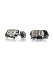 3D Mini Car Manschettenknöpfe für Herren mit Logo und Streifen - Paul Smith