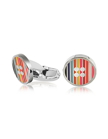 Paul Smith - Men's Signature Stripe Button Cufflinks