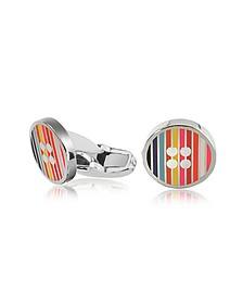 Men's Signature Stripe Button Cufflinks - Paul Smith