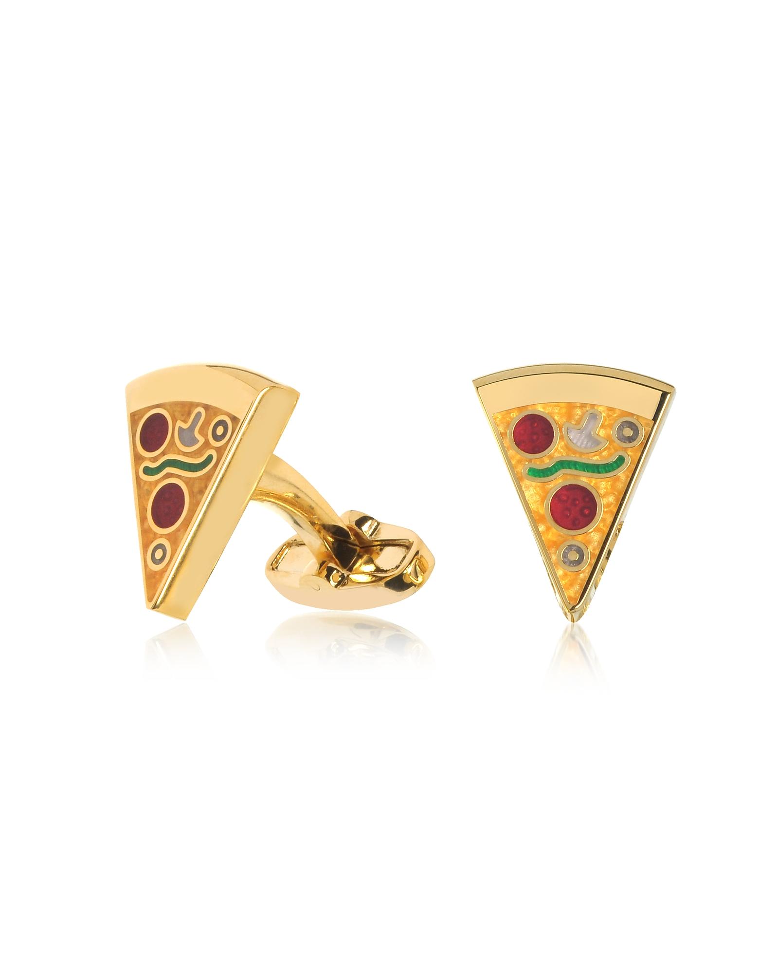 Золотистые Запонки Pizza Slice Paul Smith
