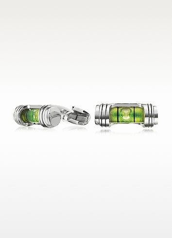 Silver-Tone Spirit Level Cufflinks - Paul Smith