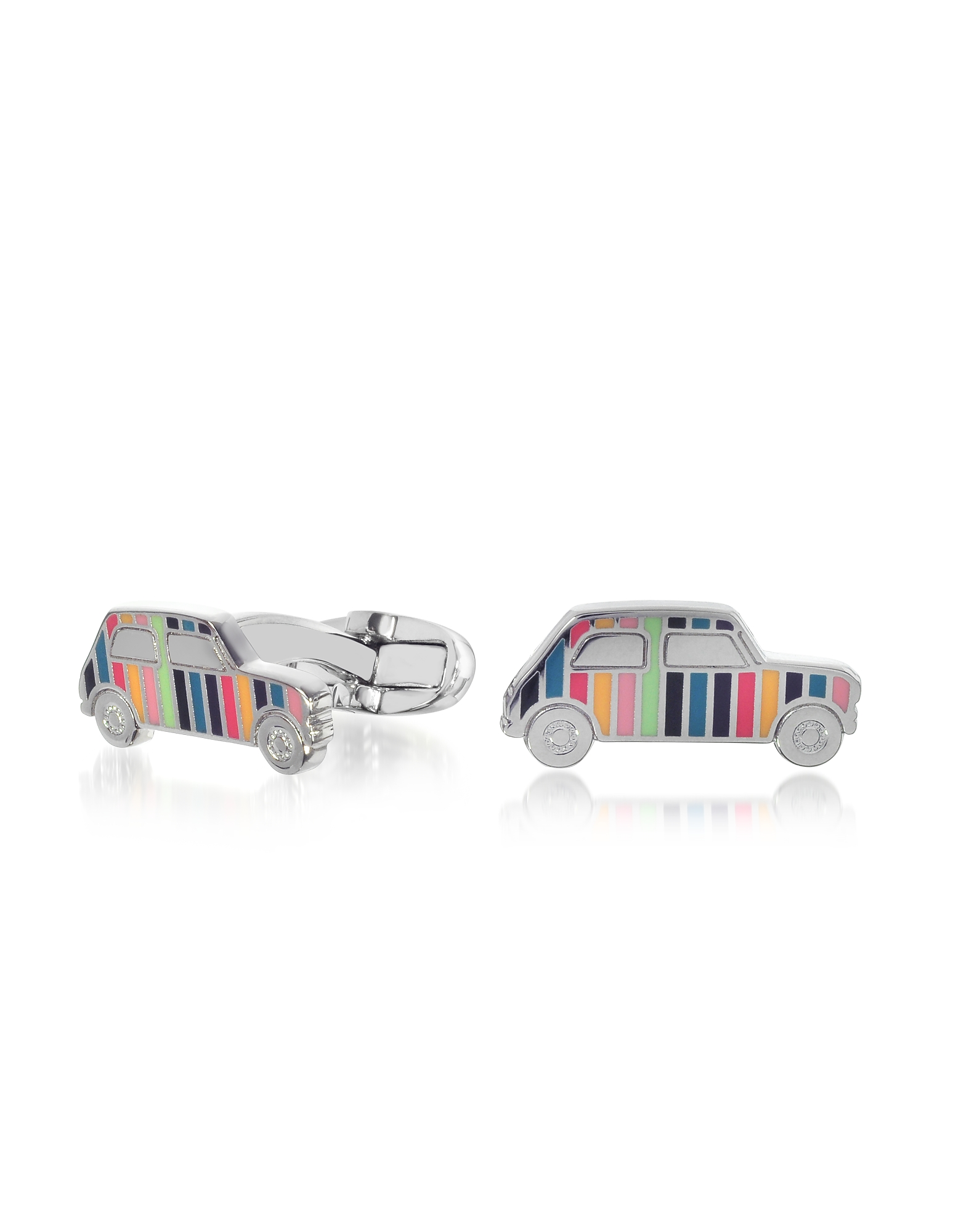 Paul Smith Cufflinks, Striped Mini Car Men's Cufflinks