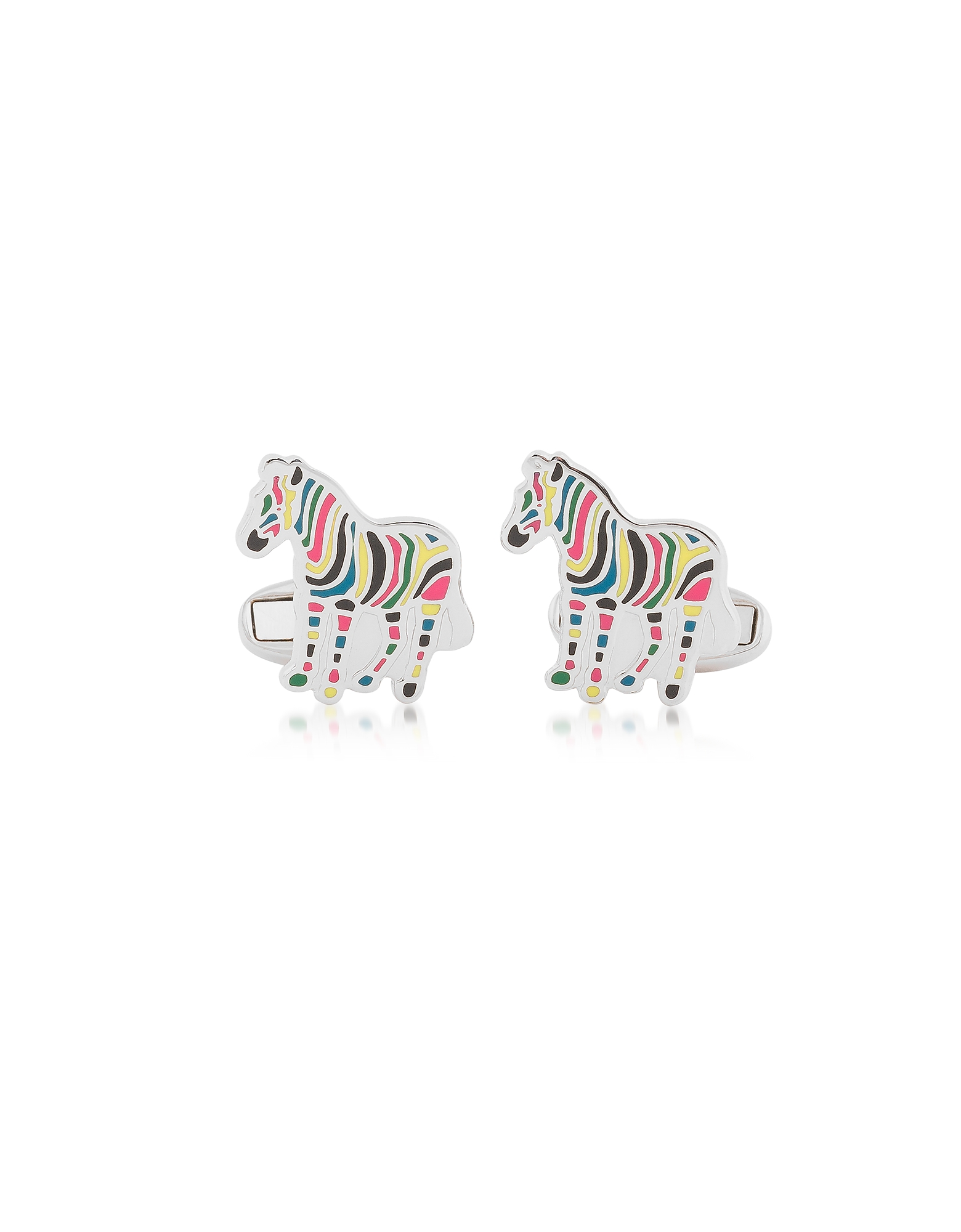 Striped Zebra Metal Cufflinks